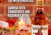 Captin morgan cranberry mule