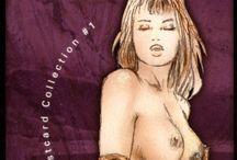 Luis Royo-Striptease, Postcard collection # 1 / Illustratore e pittore spagnolo di stile Fantasy