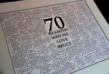60th - 70th Birthday ideas