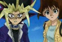 Atem y Anzu Yugioh duelo de Moustros