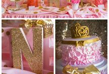 Tylen and Darryn room / Pink and gold