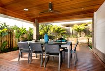 Heathmont 231 - Queensland / The Heathmont 231 is one of the latest additions to the singe storey designs. It features a covered outdoor space extending beyond the main living area to create a free-flowing indoor-outdoor feel. The separate second living area makes a perfect retreat for parents or children.