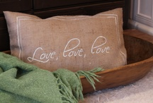 Love, Valentine decor, love pillow