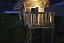 garden playhouse / Making a nice Play house with Some recycled wood