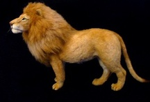 Safari dieren naaldvilten