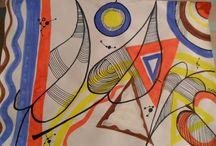 NaturalColours / pittura, disegno e colori con motivi grafici. Mi diverte, spero vi piaccia : )