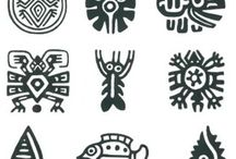 glifos y pictogramas tradicionales