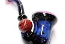 Space Glass / Space Themed Glass Pipes by Kravin Glass