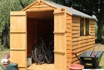 Wooden Outdoor Shed House Patio Garden Storage Home Cabin Solid Wood Outbuilding