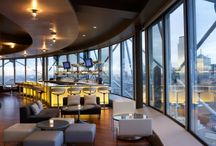 Five Sixty / Dallas' horizon brightens with Five Sixty atop Reunion Tower. The skyline's 560-foot landmark with the distinctive glowing ball houses the master chef's first fine dining restaurant in the city.