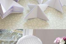 Lustre de origami