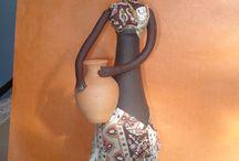 garrafas decoradas africa