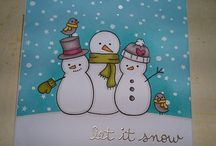 Lawn Fawn Making Frosty Friends Cards