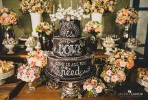 Bolo de casamento chalkboard / Bolo de casamento chalkboard, efeito lousa