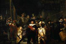 Schilderijen Rembrandt en Caravaggio