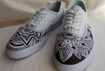 Zapatos pintados / Zapatos pintados a mano