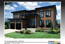 Contemporary Series - Timber Block Engineered Wood Homes / The Contemporary Series utilizes the charm and warmth of wood, blended with today's modern residential design. A collection featuring wide open spaces, clean lines accentuate the surrounding landscape and create a unique sense of harmony. www.timberblock.com