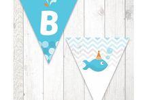 Festa Peixinho / Papelaria Digital para Festas Criativas. Compre no nosso site www.shopfesta.com.br