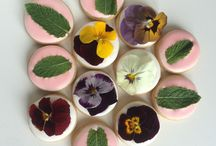 galletas con flor comestible