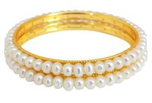 Pearl Bangles Online / Here you can check latest designs in Pearl Bangles from Goldencollections.com, you can order these through online at www.goldencollections.com is an exclusive women fashion jewellery shopping store, India