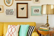 yellow couch decor