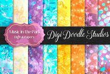 Dig Doodle Studios Digital Papers