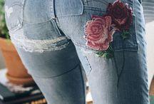 джинсы заплатки
