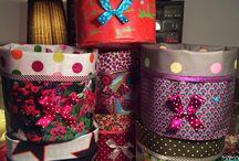 Accessoires Pauline.R / Créations en tissus enduits très colorés en pièces uniques pour embellir votre sac ou votre intérieur ! Dispo sur la page fan Facebook