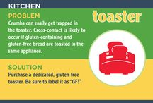 Hot Spots at Home / Learn about gluten hot spots in the home and how to avoid them.  Visit www.CeliacCentral.org/hotspots to download a free infographic of common Hot Spots at Home.