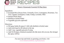 DIY Recipes / DIY recipes for everything from cleaners to sunscreen, bug spray and detergent
