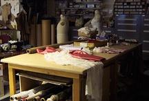 a sewing studio