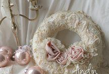 Lace wreath shabby chic / Lace wreath shabby chic