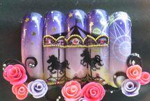 boxed nail art