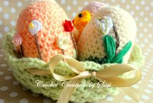 Easter crochet decoration