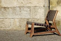 odhin / lounge chair / 2010 - 2012 / mat. solid french oak wood & leather / size. w.63cm x d.80cm x h.65cm | w.24,8in x d.31,5in x h.25,6in /  'studio gud' for 'Wewood - Portuguese Joinery'.
