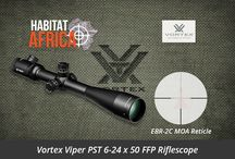 Rifle Scopes / Habitat Africa offers a wide range of rifle scopes for hunting rifles including top brands like Vortex, Burris, Nikon, Zeiss, Rudolph and many more.