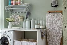 Design & Decor - Laundry/Mud & Garage  / Design ideas for remodeling of laundry area off the kitchen, with possibility of opening up using some garage space and adding a mud room space / by Sharon Stinson