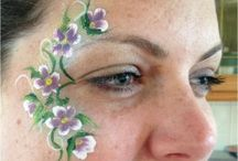 Our Eye Designs / Little face painting designs around the eyes.  Loved by adults and teenagers.