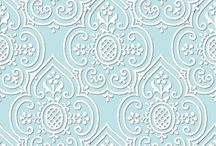 Egg Blue and White fabric