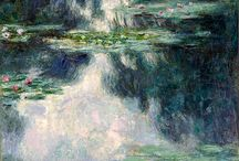 Monet's water lilies only... / by Curly Lady