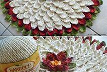 kwiatki na drutach i szydełku