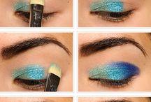 Ocean themed makeup