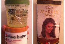 Crochet braids hair products