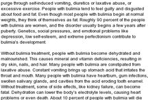 Bulimia Treatment / Experts here discuss the natural ways to cure bulimia quickly. Get back your normal health with these home remedies. Bulimia causes, symptoms, long-term effects, treatment and dangers.