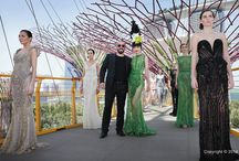 Ziad Nakad Haute Couture Spring/Summer 2014 - Gardens by the Bay, Singapore / Catlwak in the skies at Gardens by the Bay, Singapore. The audience was seated at the Supertree Grove, where they were able to enjoy panoramic views of the 128 metre-long runway.