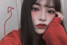 Red style ulzzang