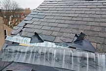 Storm Damaged Roof - Acomb, York / Storm damaged roof in Acomb, York. The whole roof was replaced with Spanish slate tiles.