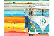 volkswagen bus art