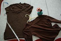 Střihy trička, topy / oblečení