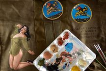 Pin Up / Pin Up paintings en so called Nose Art paintings. Painted by the tallented artists of Delware Company